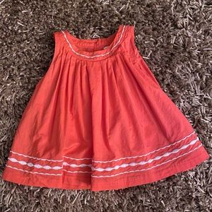 Janie and Jack Girls Coral Swing Top size 3